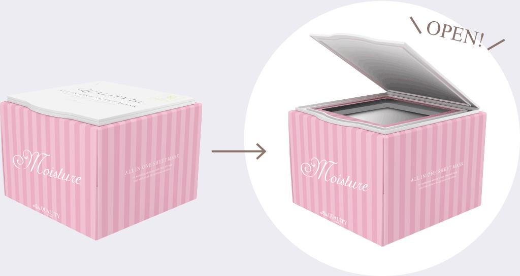 ストレスフリーなお手入れを実現するフタ付BOX