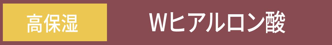 [高保湿] Wヒアルロン酸