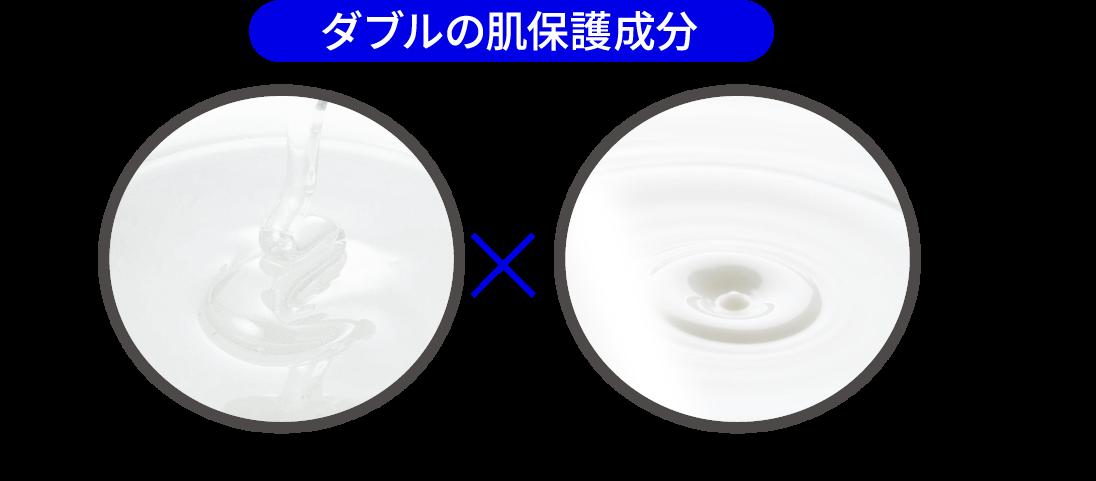 ダブルの肌保護成分 加水分解ヒアルロン酸×ポリクオタニウム-51
